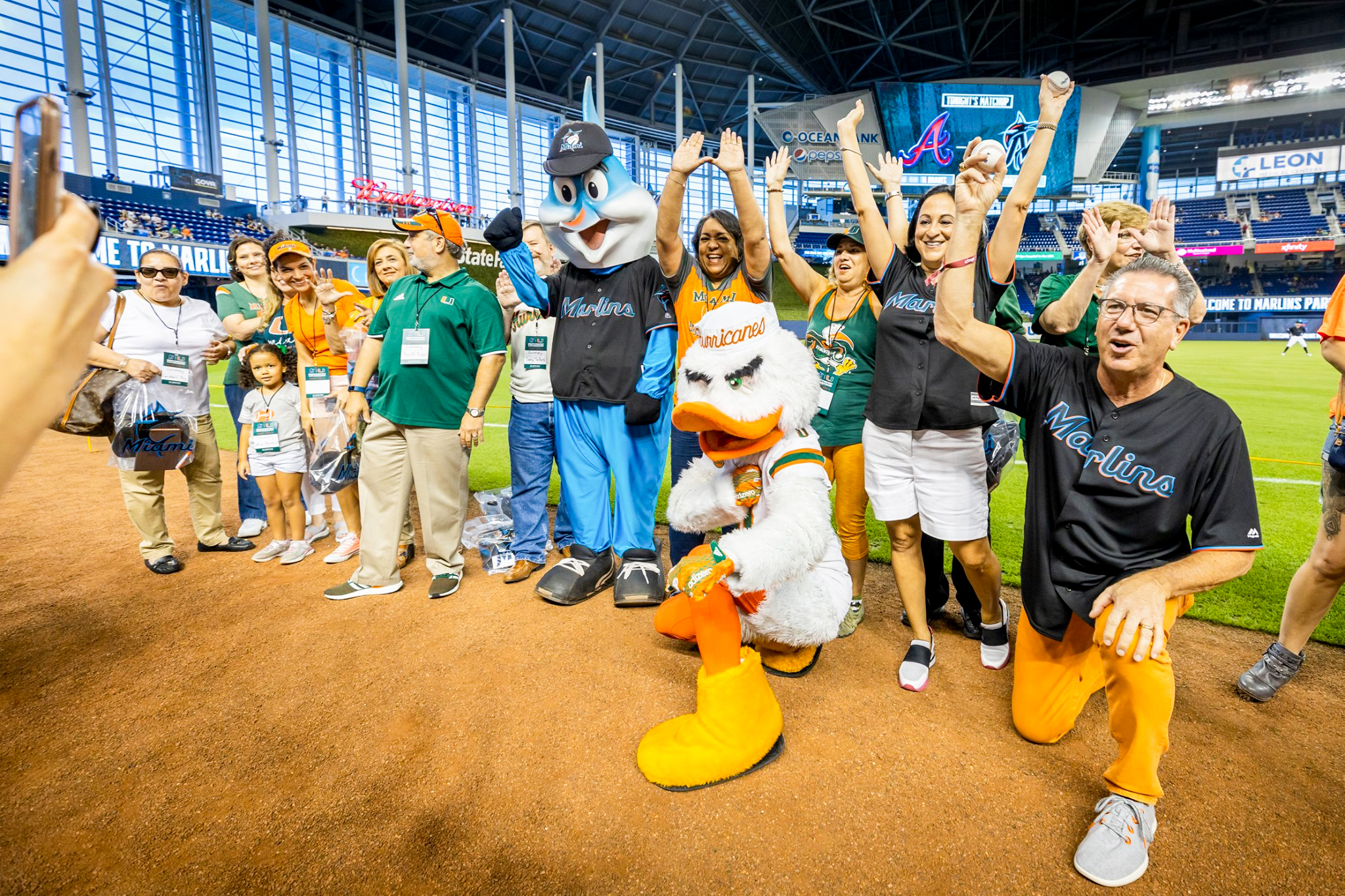 UM Employees at Marlins Day